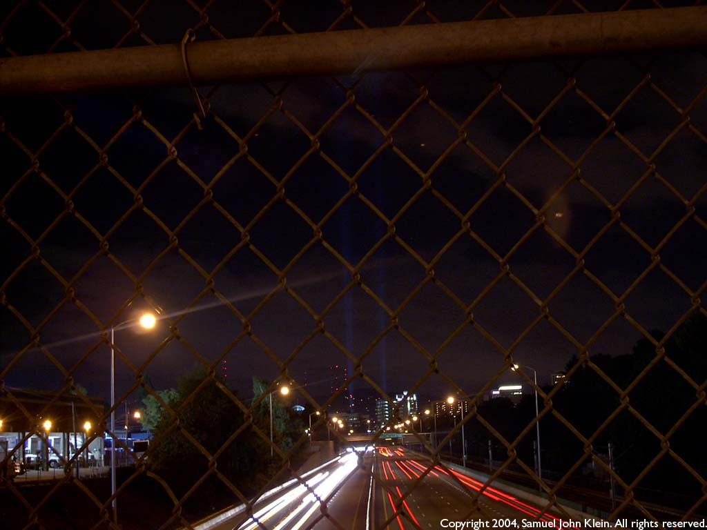 The Or Conv Ctr Lights from the NE 28th Ave overpass over i-84. Click on the graphic to see full size