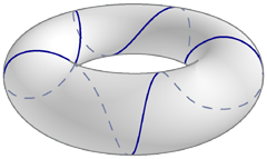 helical geodesic on a torus